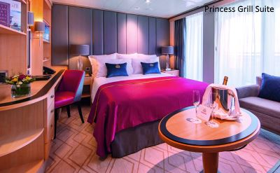 Queen Mary 2 renovated Princess Grill Suite 2016