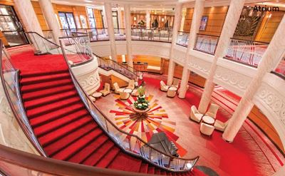 Queen Mary 2 renovated Atrium 2016